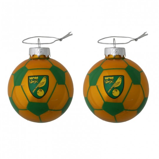 Glass Football Bauble
