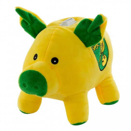 Large Plush Pig Money Box