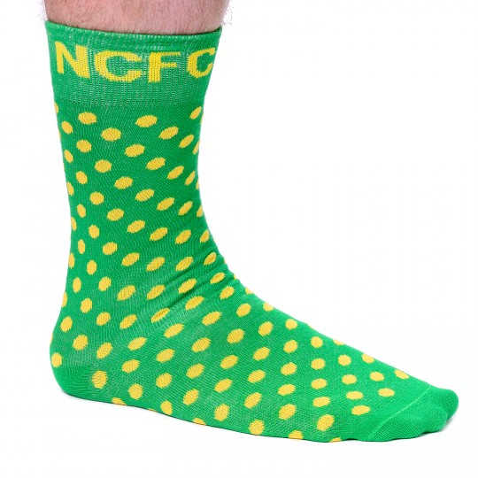 Small Yellow Spot Dress Socks - Green