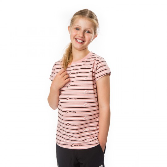 Girls Pink Lined T-Shirt