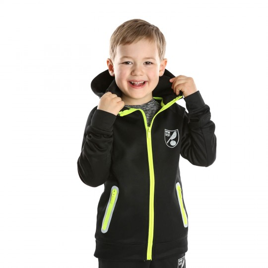 Kids Reflective Crest Full Zip Sweat