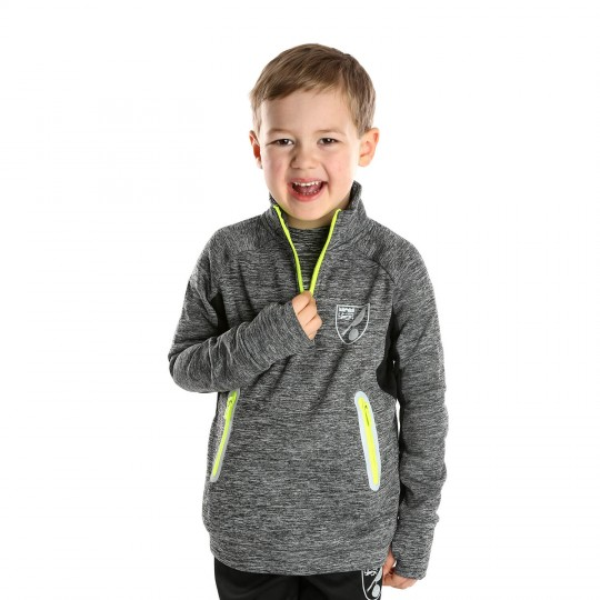 Kids Reflective Crest 1/4 Zip Sweat