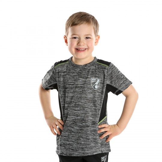 Kids Reflective Crest T-Shirt Dark Grey