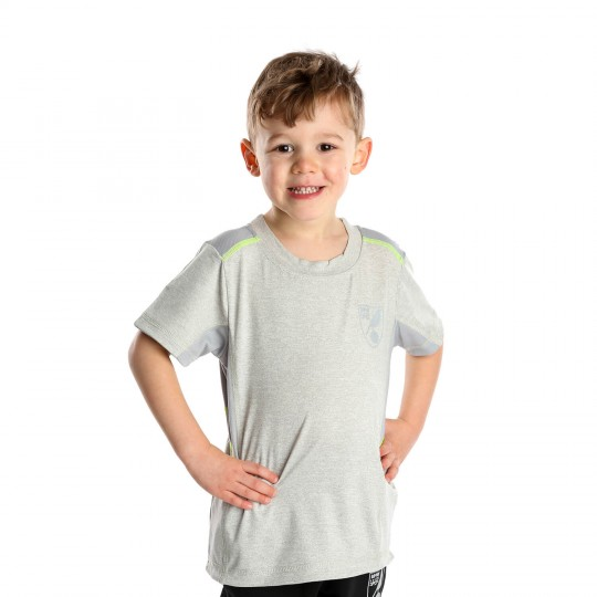 Kids Reflective Crest T-Shirt Light Grey