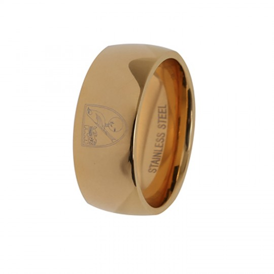 Gold IP Crest Ring