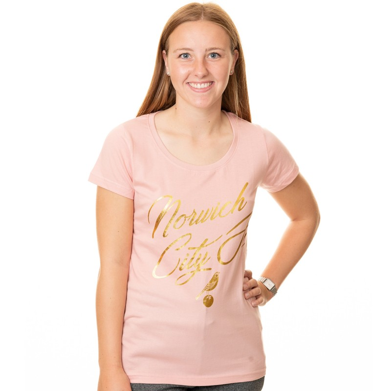 Ladies Pink Foil T-Shirt