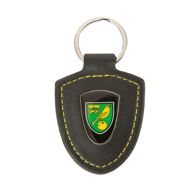 Leather Fob Crest Keyring