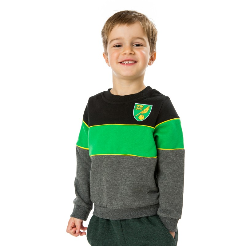 Kids Green Stripe Sweat