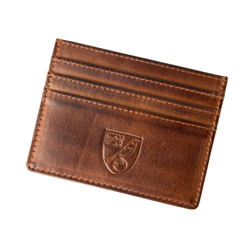 Real Leather Card Holder - Brown