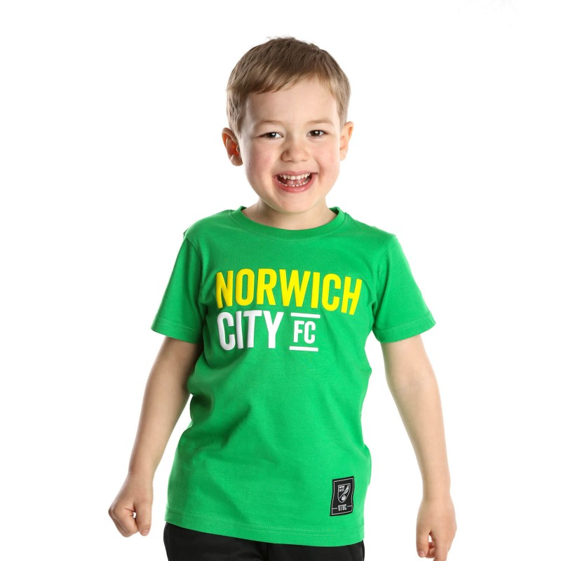 Kids Norwich City FC T-Shirt Green