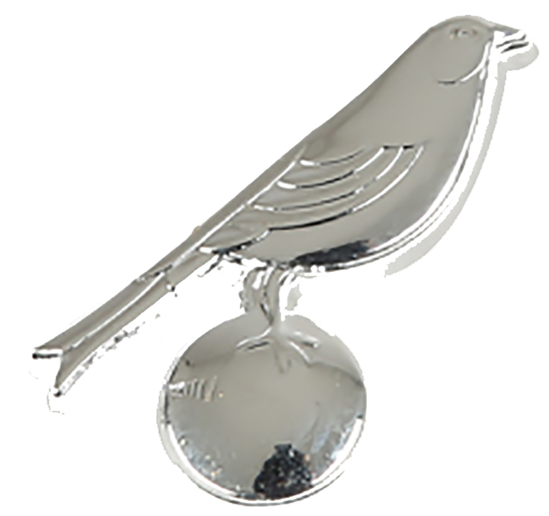 3D Bird on the Ball Pin Badge