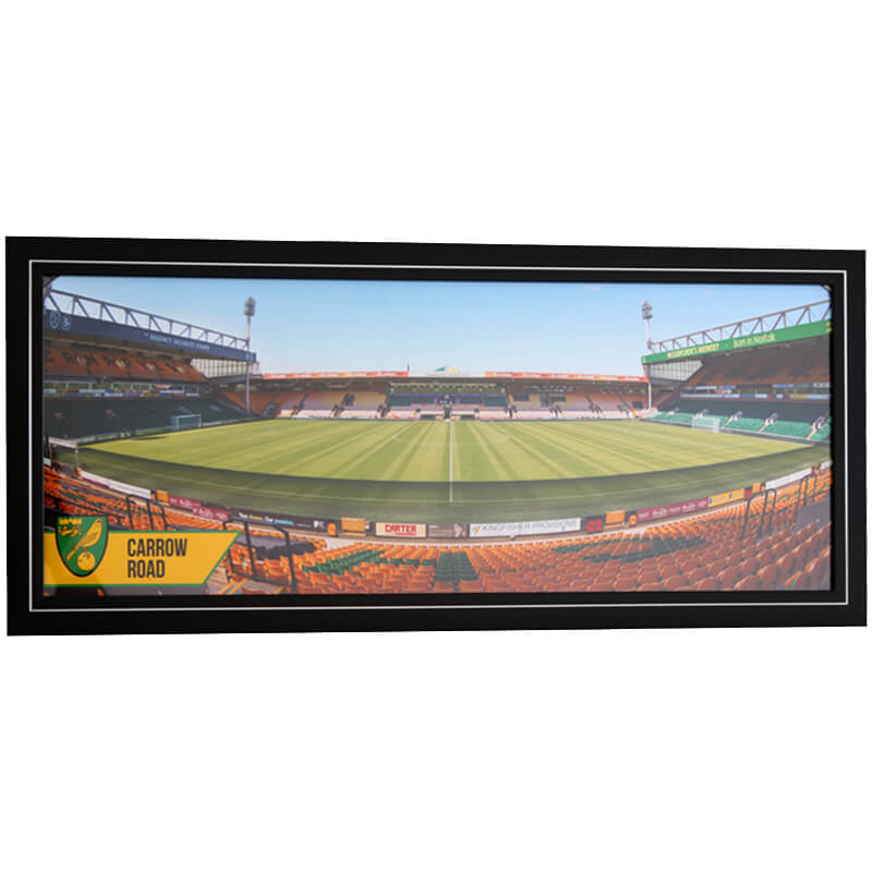 Large Framed Carrow Road Panoramic